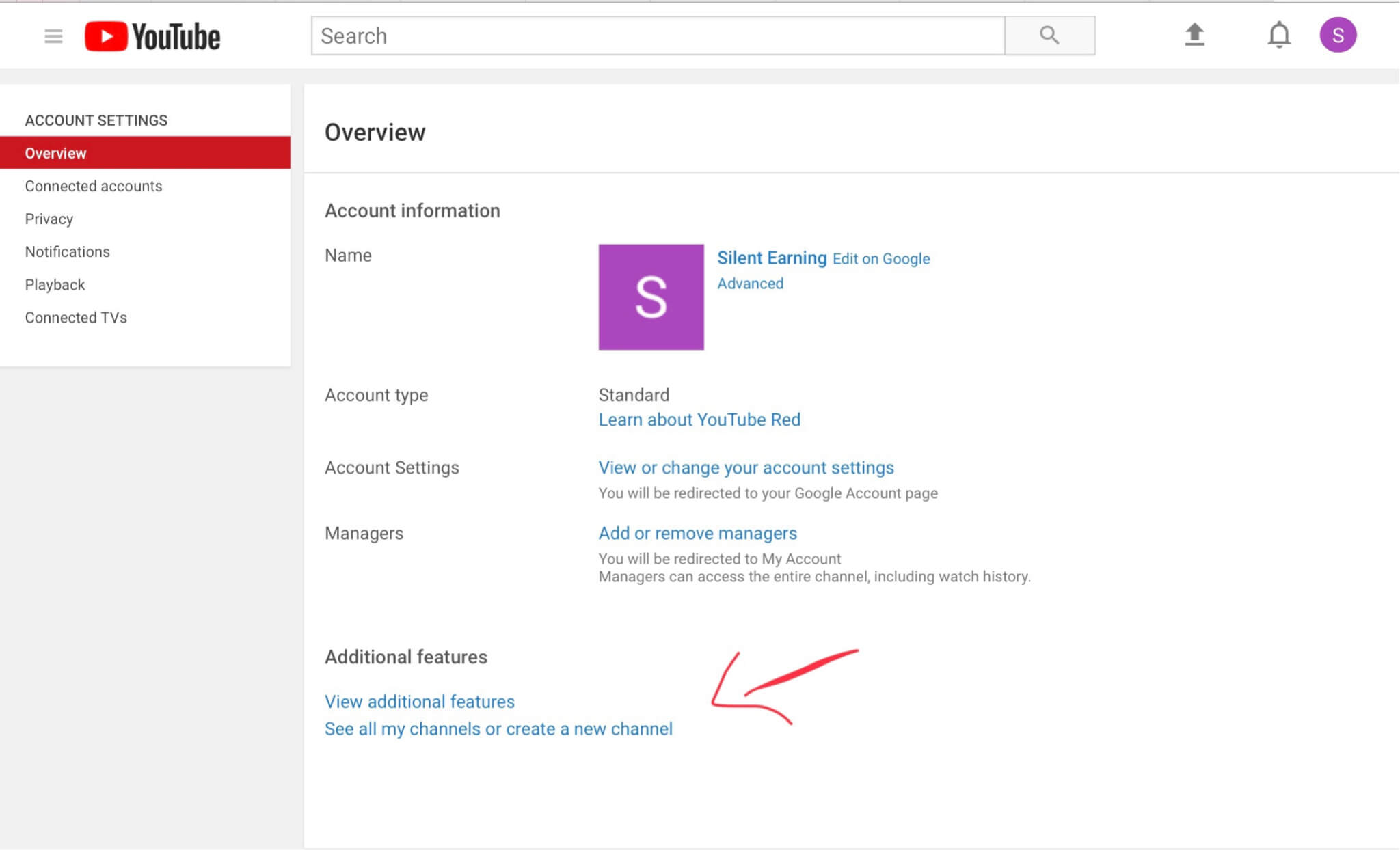 how to set channel name on youtube