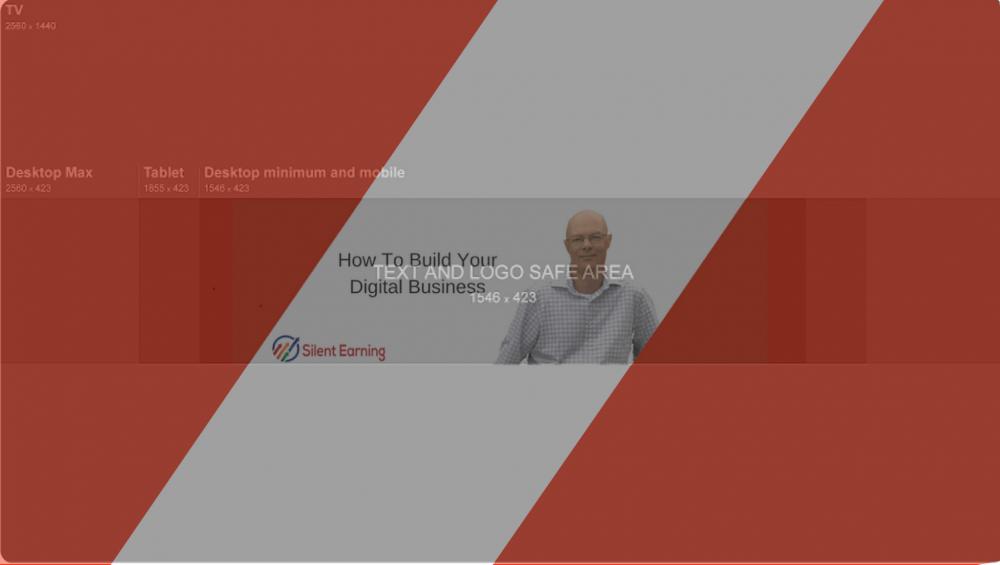 YouTube Banner Template, SIlent Earning