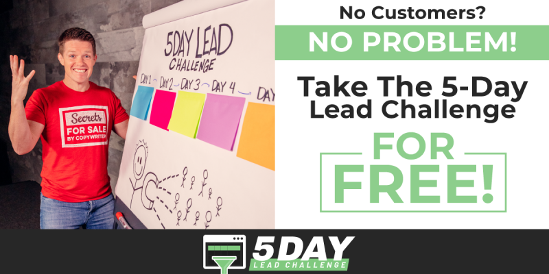 russell brunson, 5 day lead challenge, clickfunnels